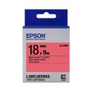 EPSON LK-5RBP C53S655403 粉彩系列紅底黑字標籤帶 寬度18mm