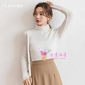 高領毛衣 高領針織衫女2019秋冬新款加厚修身羊毛打底衫上衣羊絨堆堆領毛衣S-XL碼 4色