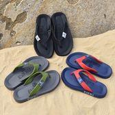 夏季潮流拖鞋男士涼拖夾腳潮男英倫防滑個性沙灘鞋人字拖男