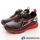 【MOONSTAR】日本月星競速童鞋-競速防水防滑4cm系列(中大童)黑-SSJ8266