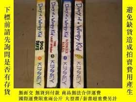 二手書博民逛書店DIARY罕見of a Wimpy Kid 小屁孩日記 【1、 2、 3、 4 四冊合售】Y222470 看圖