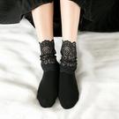 2雙裝 蕾絲中筒襪女日系堆堆襪韓版襪子女中筒潮襪蕾絲花邊襪【慢客生活】