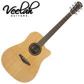 【敦煌樂器】VEELAH V1-DC 民謠吉他/隨琴附贈琴袋背帶以及彈片