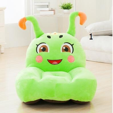 糖寶兒童毛絨玩具卡通沙發懶人靠背可拆洗座椅凳子聖誕節禮物-炫彩腳丫折扣店