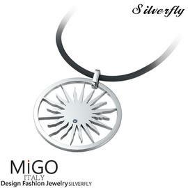 《 SilverFly銀火蟲銀飾 》【MiGO】璀璨-男墜 天然藍寶石