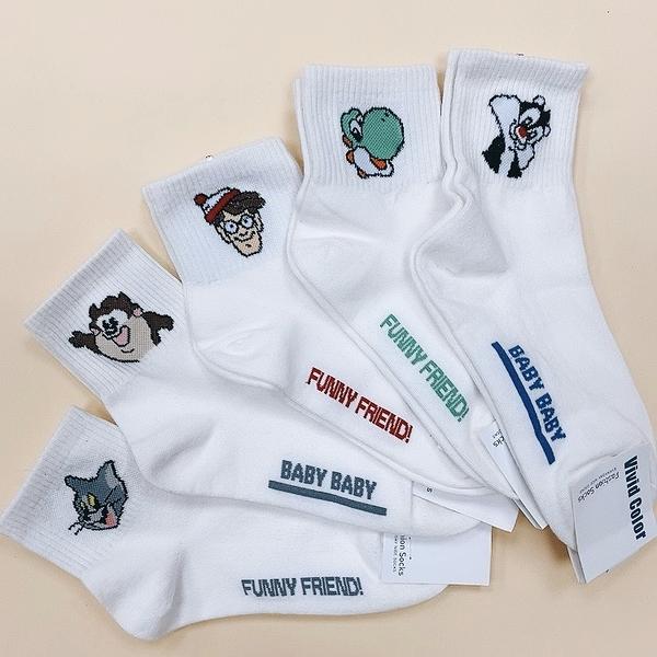 funny friends! 恐龍 可愛動物 卡通動物 威利在哪裡 韓國襪子 長襪 單雙 威力