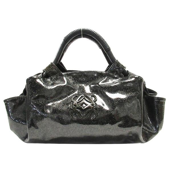 LOEWE 羅威 閃耀黑漆皮手提包 Air Bag 【BRAND OFF】
