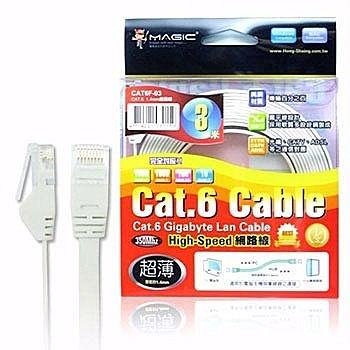 【貓頭鷹3C】MAGIC Cat.6 超薄 Hight-Speed 網路線 - 3M (3M)[CBH-CAT6-3M]