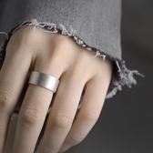 925銀個性素圈戒指簡約食指中指戒男女版可調節指環/設計家