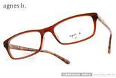 agnes b.光學眼鏡 AB2089 TWA (咖啡琥珀) 小資女孩百搭款 # 金橘眼鏡