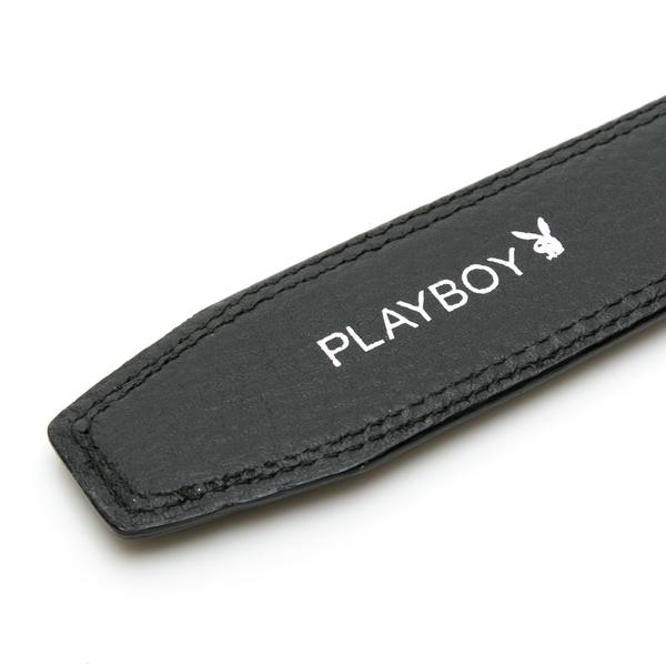 PLAYBOY- 兔頭LOGO 自動皮帶-黑色