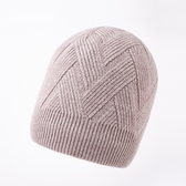 羊毛毛帽-純色菱形花紋包頭男針織帽4色73wj46【時尚巴黎】