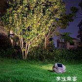 太陽能花園擺件射燈仿真石頭雕塑投射燈室外防水LED景觀庭院燈  全館免運