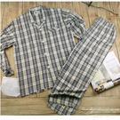 【大盤大】BEA MAN 男士 純棉睡衣睡褲 整套組合價 M號 經典格紋 開釦開襟 父親節禮物 居家服