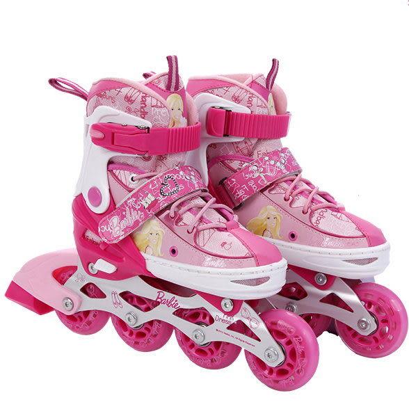 迪士尼可調兒童溜冰鞋 直排輪 全套裝組 芭比款