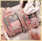後背包書包女韓版原宿 高中學生新款初中生校園甜甜圈雙肩包
