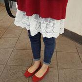正韓 短裙蕾絲打底半身裙