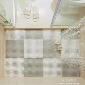 浴室防滑墊淋浴房洗澡隔水墊家用大號拼接鏤空墊子廁所衛生間地墊 YXS 【快速出貨】