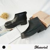 短靴 簡約素面厚底短靴 MA女鞋 T4894