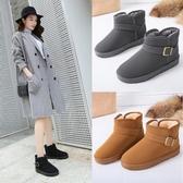 雪地靴女短筒冬季新款短靴韓版百搭學生棉鞋加絨加厚保暖短靴 遇見初晴