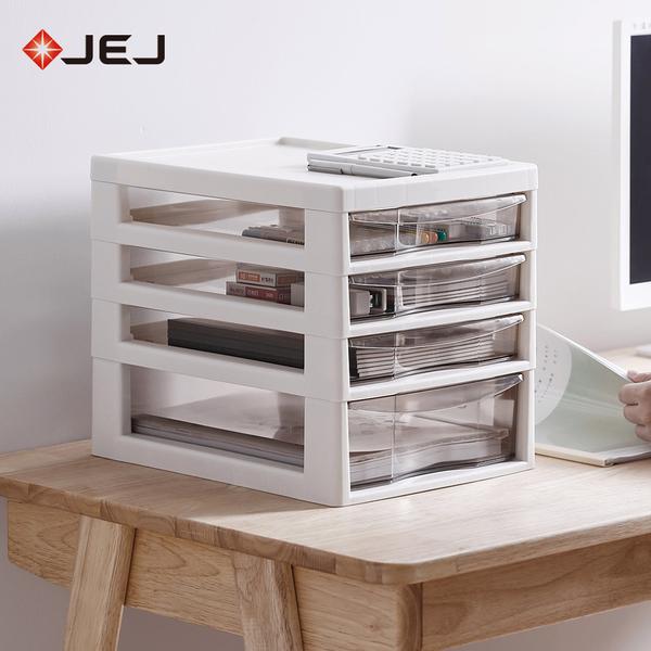 【日本JEJ】辦公桌上型A4文件收納櫃-1大抽3小抽
