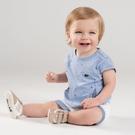 短袖套裝 Dave Bella 小童 大童 藍色船帽短袖上衣+白色滾邊短褲 套裝2件組 DB7456