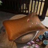 枕頭 夏季藤席涼枕頭冰絲雙面透氣涼席茶枕成人單人學生夏天蕎麥枕芯【快速出貨】