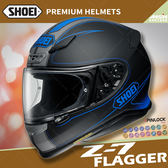 [中壢安信]日本 SHOEI Z-7 彩繪 FLAGGER TC-2 消光藍黑 輕量 全罩 安全帽 小帽體 透氣 快拆