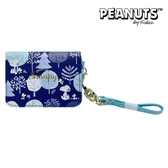 日本限定 SNOOPY 史努比 森林版 掛繩 伸縮票卡夾 / 悠遊卡夾 / 證件卡夾套