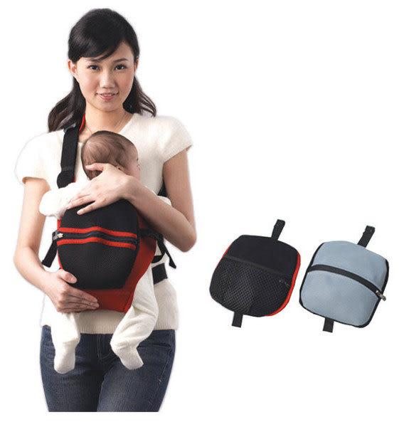 【奇買親子購物網】Baby City 嬰幼兒成長斜揹揹巾/收納型(卡其/紅)