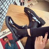【618好康又一發】馬丁靴女英倫風百搭短靴女尖頭鞋