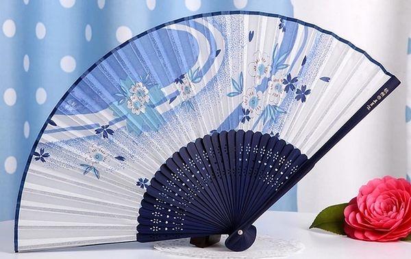 日式真絲櫻花 工藝和風絹扇9