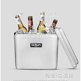 冰桶 保溫箱冷藏箱車載移動冰箱戶外便攜保鮮箱冰袋冰桶商業擺攤保冷袋AQ 有緣生活館