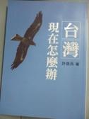 【書寶二手書T7/社會_NPZ】台灣現在怎麼辦_許信良