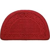地墊 新年中式紅色地墊浴室吸水地毯腳墊門墊進門家用復古半圓地墊
