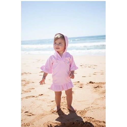 兒童泳衣 兒童海灘套頭裹巾 毛巾料 澳洲鴨嘴獸 (女2-4歲)