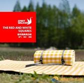 黃白格戶外墊子防潮墊野餐墊布【勇敢者戶外】