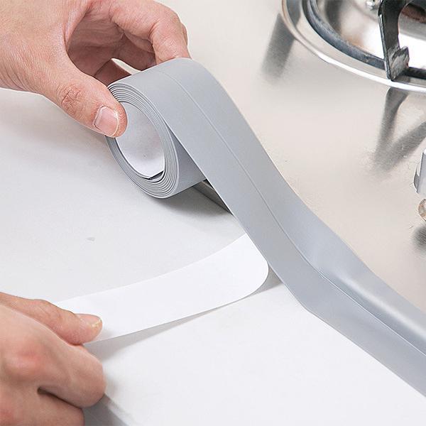 【BlueCat】廚房浴室 水槽縫隙 防水素面膠帶 (3.2米*3.8cm)