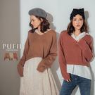 現貨◆PUFII-針織上衣 V領素面短版針織上衣-1031 現+預 秋【CP17462】