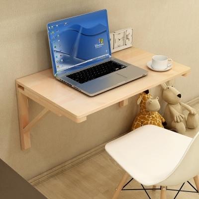 壁掛餐桌 經濟型實木壁掛桌折疊桌餐桌靠牆電腦桌書桌牆壁桌學習桌可折疊T