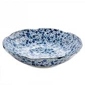 藍染小花 6.8吋深皿 20.5cm S3-07
