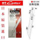 【優待促銷】NT BD-100 美工刀替刃 (30度斜角) 10小包入 / 盒