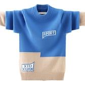 男童毛衣套頭秋冬款洋氣韓版純棉2020新款兒童針織衫加絨中大童潮