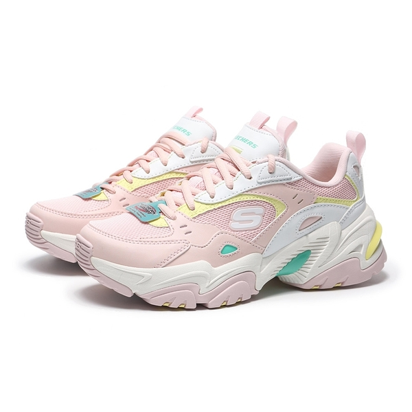 SKECHERS 休閒鞋 STAMINA V2-THE RISE UP 粉紅 增高 記憶鞋墊 老爹鞋 女(布魯克林) 149510PKMT