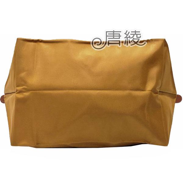 【LONGCHAMP】摺疊短把尼龍水餃包(焦糖色-M號)