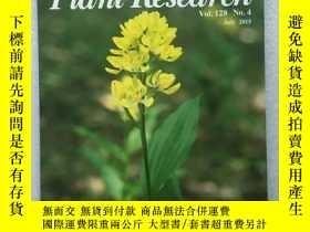 二手書博民逛書店journal罕見of plant research【植物研究雜