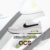 Nike 休閒鞋 Air Max SC 白 黑 綠 氣墊 男鞋 小白鞋 百搭款 運動鞋 【ACS】 CW4555-105