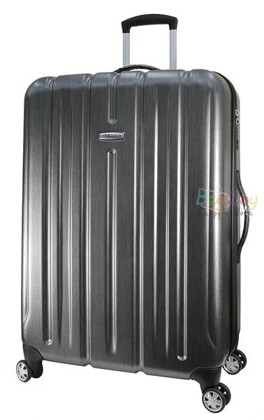萬國通路 雅仕 EMINENT KF21 28吋 拉絲 金屬風 PC材質 拉鍊 行李箱 鐵灰色