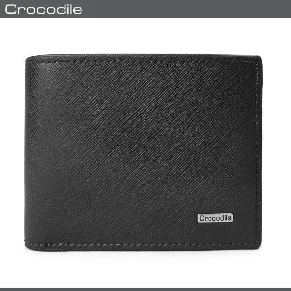 Crocodile  鱷魚 皮夾 / 短夾 0103-59021 黑色  Wind系列 洗鍊精工 MyBag得意時袋