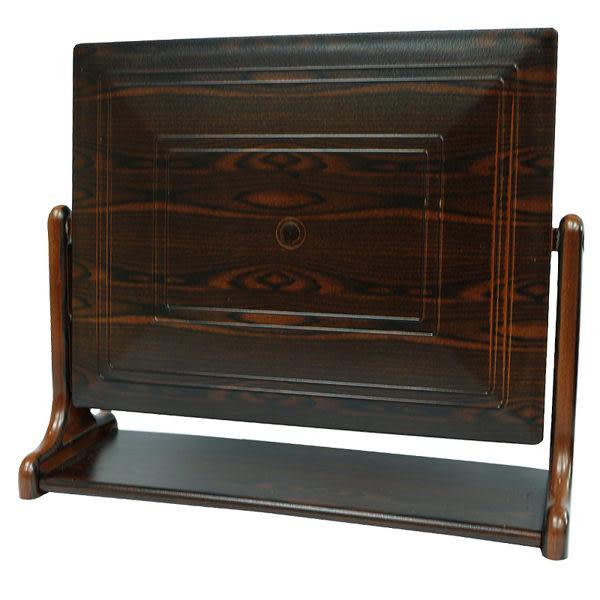 亮顏黑檀紋方型桌鏡 (中)